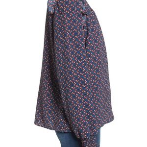 Leith Tops - Leith ruffle shoulder blouse